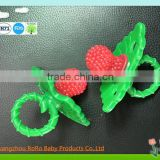 2016 funny new design strawberry shape pacifier & colorful baby toy                                                                         Quality Choice