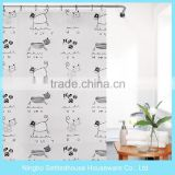 Bathroom cartoon animals printing kids PEVA shower curtain
