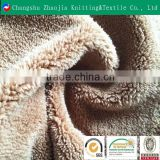 2016 hotsale brown color coral fleece fabric from china factory ZJ077