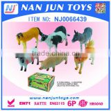 hot sale plastic 6 pieces farm animal models toy for kids
