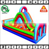 Commercial Used Party Tropical Island Obstacle Course for Adults , Giant Cheap Inflatable Obctacle Course for Sale