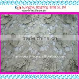 Design embroidery gold metallic lace fabric with floral applique HKS0298