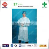 2015 sterile disposable surgical gown full back medical products