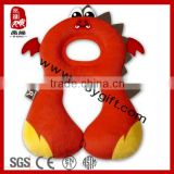 2014 new product china wholesale baby animal pillow cute red pillow baby car seat neck support pillow