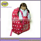 Pink Cute Baby Doll Carrier Backpack With Dot