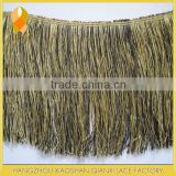 20CM polyester tassel fringe trim For belly dance naked women latin Dance wear clothing tassel (black and gold)                                                                         Quality Choice
