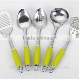 Set of 6pcs New Designed Stainless Steel Kitchen tools with PP + TPR handle Nylon Kitchen Tool set