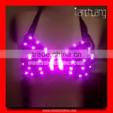 RF Remote Control LED Light Belly Dance Sexy Ladies Bra