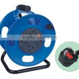 UK Cable reel with cable H05VV-F 3G1.25/1.50mm2 25M and 50M extension cord reel