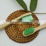 Green nylon brush silk and wood toothbrush, healthy environmental protection, biodegradable bamboo toothbrush