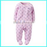 Hot selling lavender jumpsuits zip-up newborn jumpsuits kids jumpsuits                                                                         Quality Choice