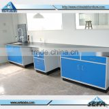 Physics Laboratory Furniture Floor Mounted Full Steel Working Bench For School Or Industrial