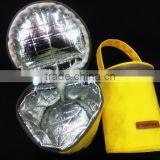 Bright Yellow Color Breastmilk Storage Bottle Cooler Bag