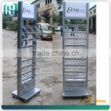 wholesale metal white proof ceramic tile accessories display stand with wheels HSX-S0346