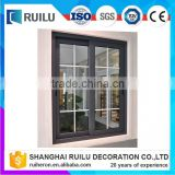aluminum grill glass sliding window design CE aluminum glass door and window frame Made in China
