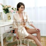 Wholesale silk robe
