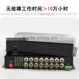 16Ch Video & 1 Channel Bi-Directional Data to Fiber SM 20km Optical Video multiplexer 1CH to 64CH cctv fiber video converter