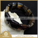 nice round natural gemstone banded agate bracelet jewelry wholesale