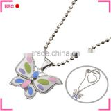 Fancy ladies necklaces design butterfly pendant, for women latest model fashion necklace