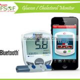 SIFGLUCO-3.1 2016 Alibaba Hot Sale Wireless Bluetooth Glucometer, 2 in 1 Monitoring System : Blood Glucose/Cholesterol