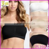 3pcs/set Fashion Ladies Women Comfort Strapless Sport Bandeau Crop Top Bra Boob Tubes S-XXL