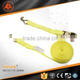 3 Ton color zinc plated handle ratchet tie down straps/ cargo lashing belt /ratchet lashing straps