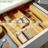 Expandable Bamboo Utensil Organizer/Utensil Tray/Homex_BSCI