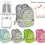 Printed fabric sport school backpack for students