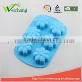 WCA099 Flower Shape Silicone Mold for Homemade Soap Cake Cupcake Bread Muffin Pudding Jello and More
