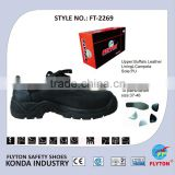 Professional Buffalo Leather Safety Shoes Safety Boots Work Shoes Safety Footwear