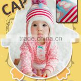 High Quality Fashion Korean penguin Knitted Kids Baby Hat Scarf Set