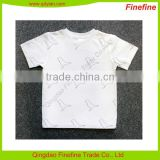 OEM Service short sleeve crew neck cotton unisex children's tee