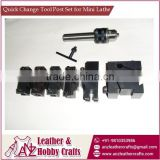 Quick Change Tool Post Set for Mini Lathe
