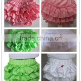 2015Wholesale Childrens Baby Cotton 0-6 Bloomers With Ruffles Chooseful Color Plain Color Cotton Knit Ruffles Bloomers Underwear