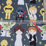 Boy's shirt with star war print wholesale ruffle raglan children's boutique clothing for baby wear clothes