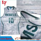 Camo cheap basketball uniforms wholesale/Custom basketball uniform design/Dry fit basketball jersey