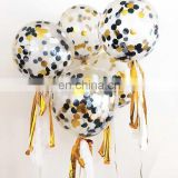 High Quality 18inch Transparent Balloon with Colorful Confetti Party Decoration Baby Shower Supplies Latex Balloon
