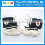 Crochet Newborn to Toddler Baby Boys boots Sports Shoes White Blue Color With Star