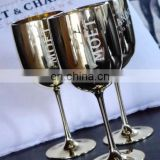 Unbreakable Acrylic Made White/Gold Moet&Chandon champagne glass