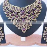 INDIAN DESIGNER AMERICAN DIAMOND JEWELLERY SET