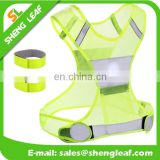 2017 high visibility vest, reflective running vest for sports in night