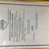 CERTIFICATE OF QUALITY MANAGEMENT SYSTEM FOR MEDIC