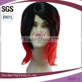 Cheap wholesale short halloween party two tone synthetic wig on sale