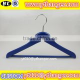 YY0527 blue kids flat wooden hanger custom wooden baby clothing wooden hanger                                                                                                         Supplier's Choice