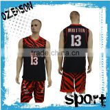 professional mens/women's reversible long/short sleeves basketball jersey manufacturer