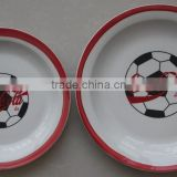 porcelain cheap transfer plates with fruit decal different kind of china wares with flat plate