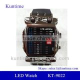 Hot Sale Men's LED Lattice Display Black Rubber Band Wrist Watch