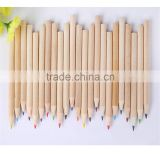 high quality plastic barrel packed with sharpener color pencil mini promotional colorful pencil set