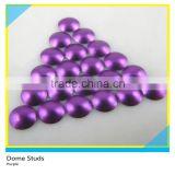 Wholesale Metal Glossy Hot Fix Dome Studs Half Round Purple Dome Studs