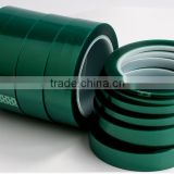 Heat resistant industrial green PET high temperature adhesive tape